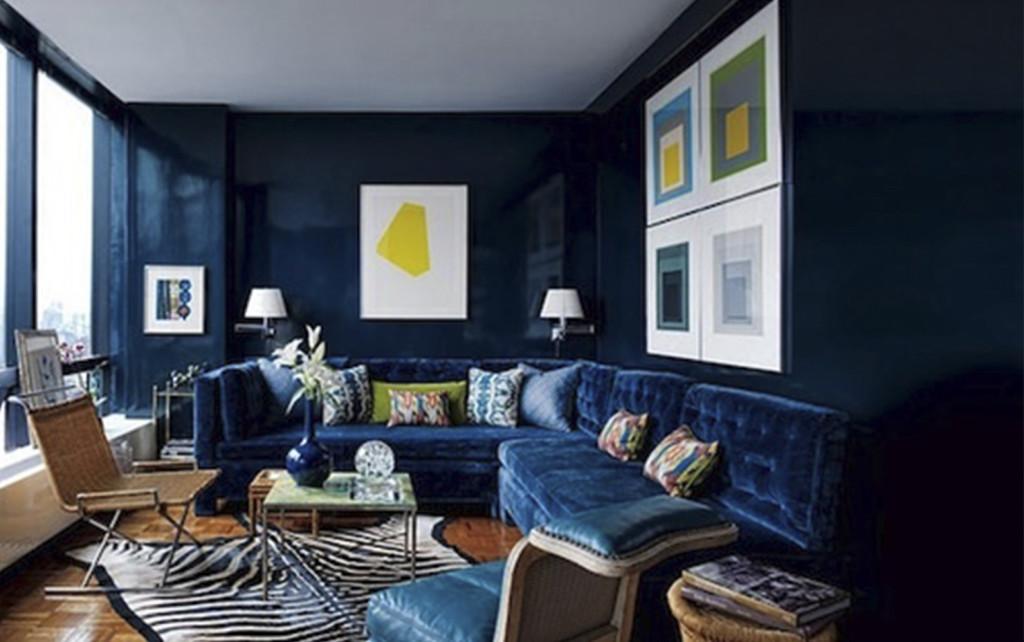 Wandfarben Modern 2018 Blau