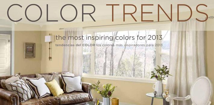 Цветовые тенденции 2013 года