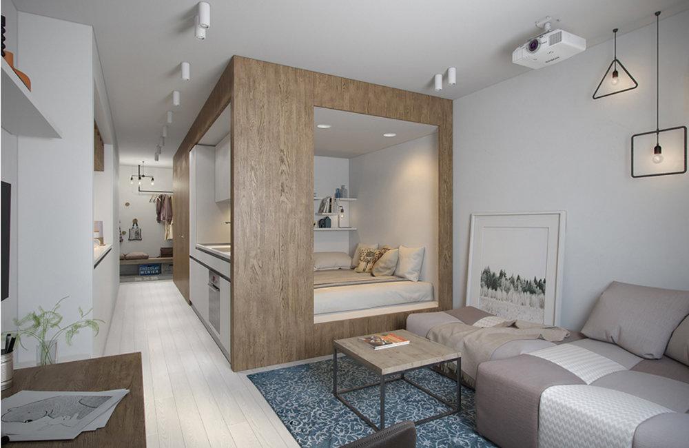 Дизайн квартиры в 30 метров
