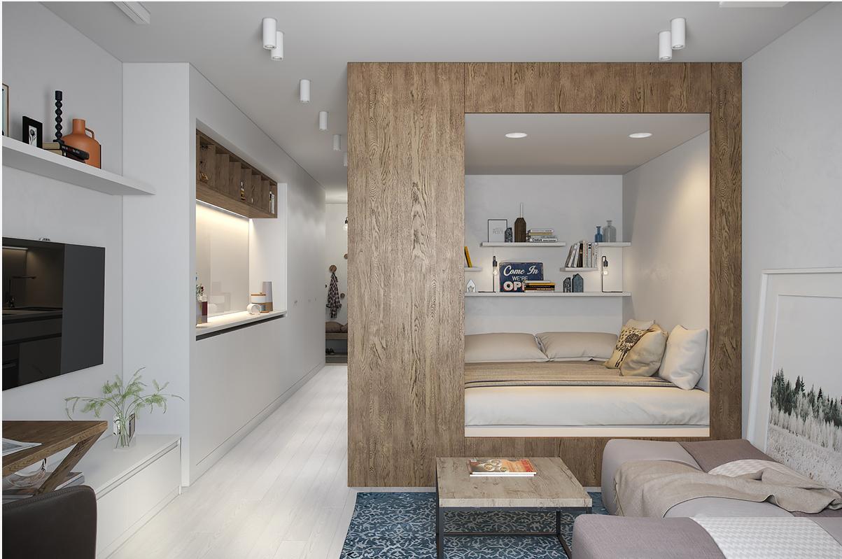 Дизайн квартир студия 30 м кв дизайн