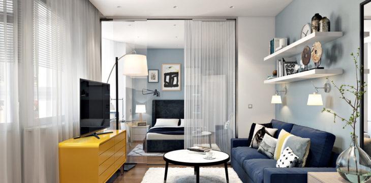 Квартира-студия в европейском стиле